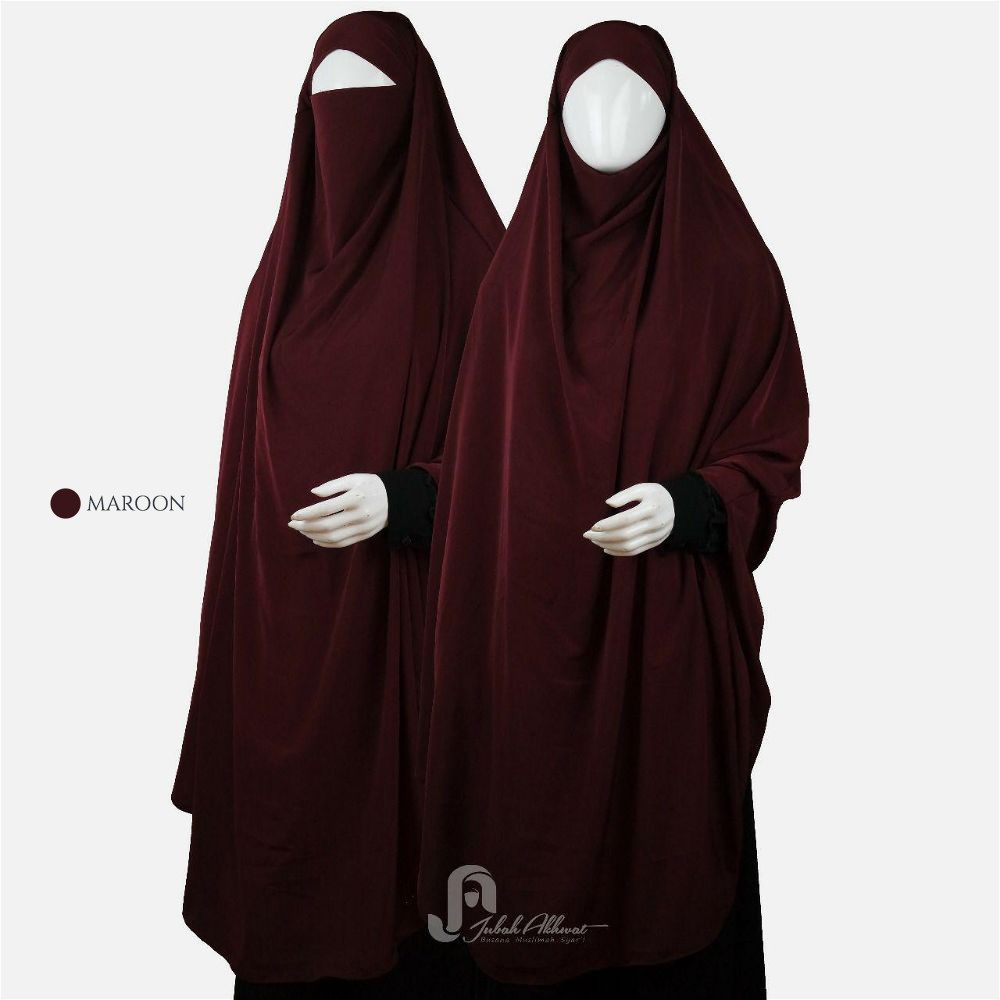 french khimar warna maroon