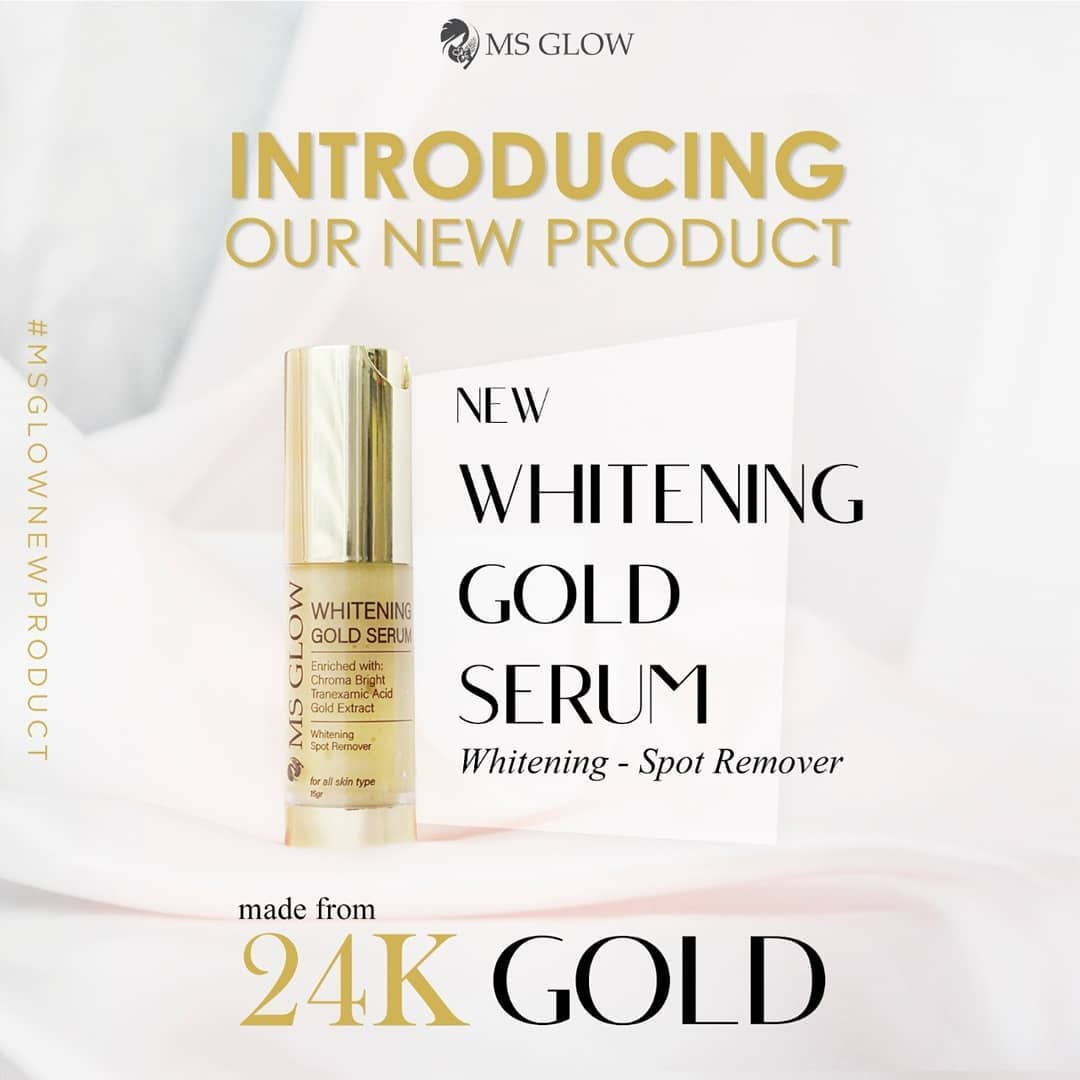 NEW: Whitening Gold Serum MS Glow + Cara Pemakaian