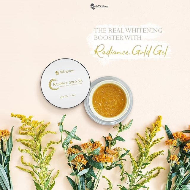 radiance gold gel the real whitening booster
