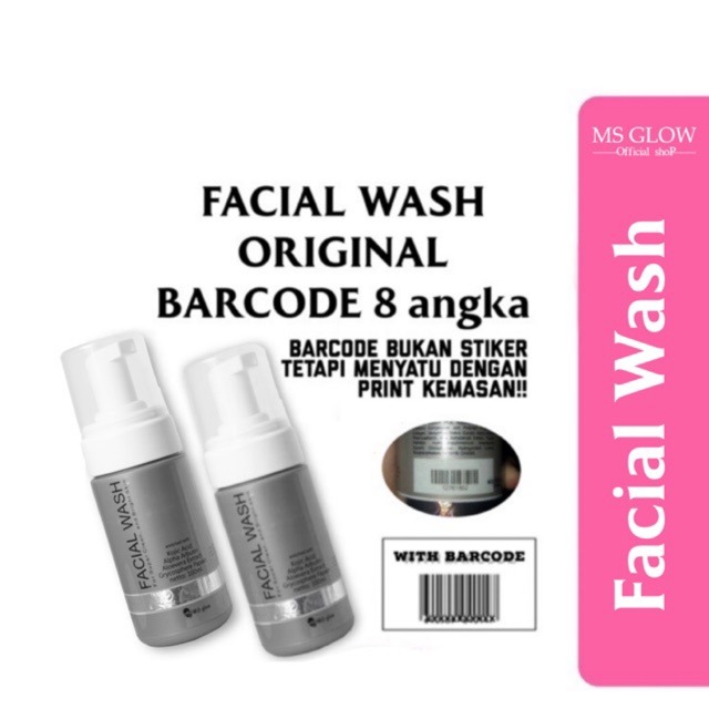 Scan Barcode MS Glow Pada Facial Wash