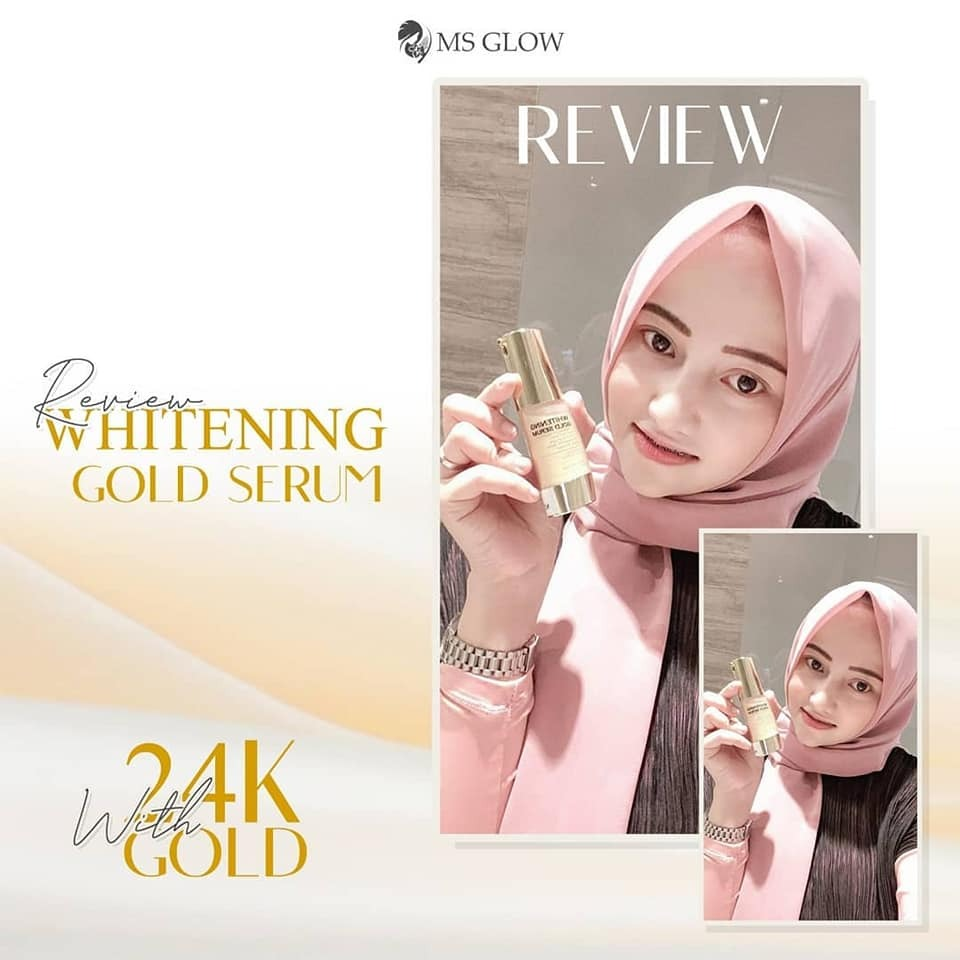 Review Whitening Gold Serum MS Glow