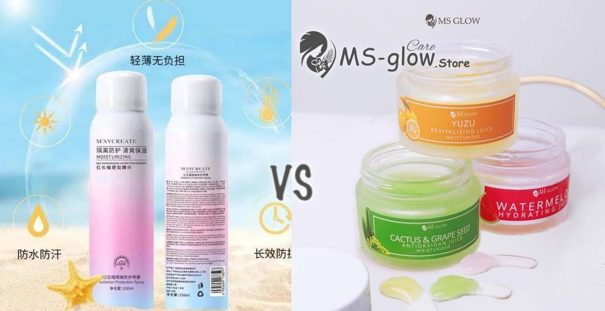 Maycreate Moisturizing Spray VS MS Glow Moisturizing Juice