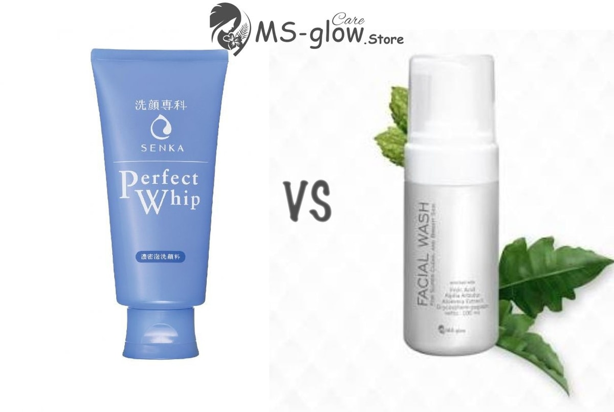 Senka Perfect Whip Facial Foam VS MS Glow Facial Wash