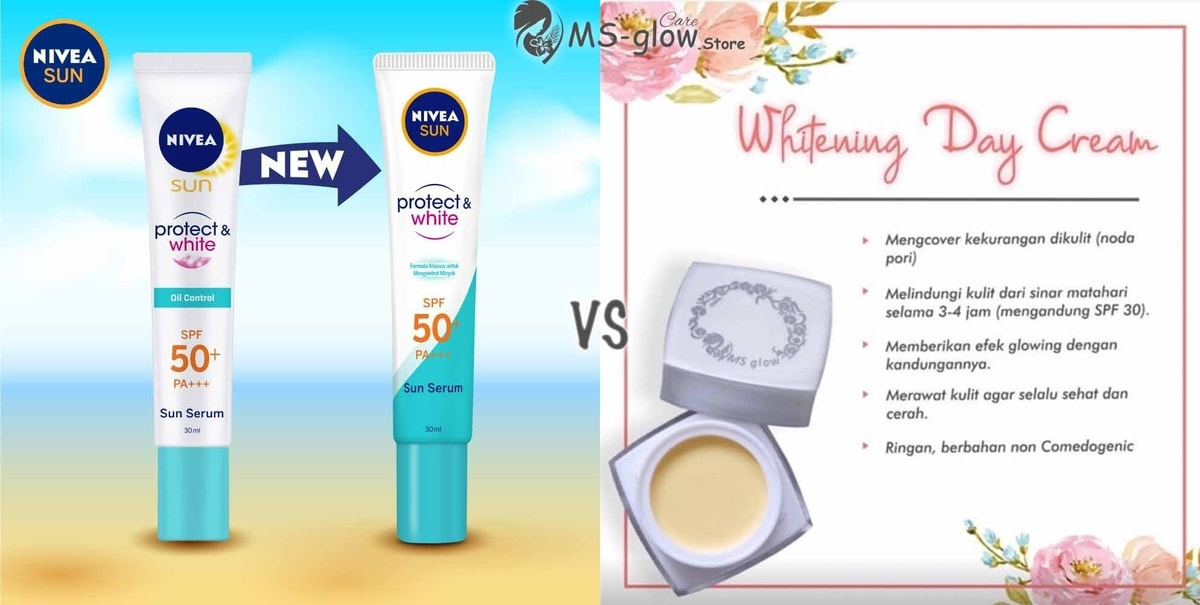 Nivea Sun Face Protection VS MS Glow Day Cream