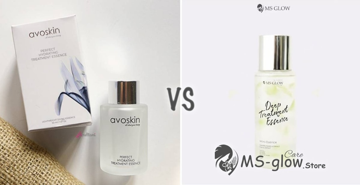 Avoskin Perfect Hydrating Treatment Essence VS MS GLOW Deep Treatment Essence