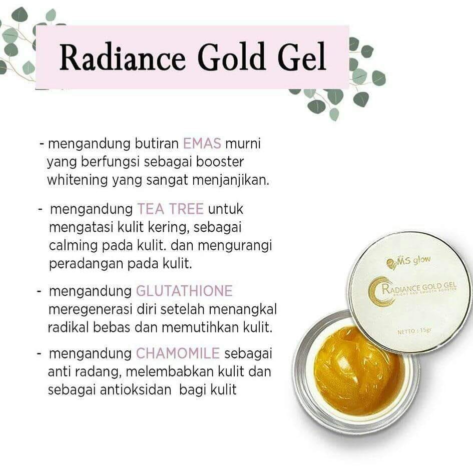 Kandungan radiance gold gel