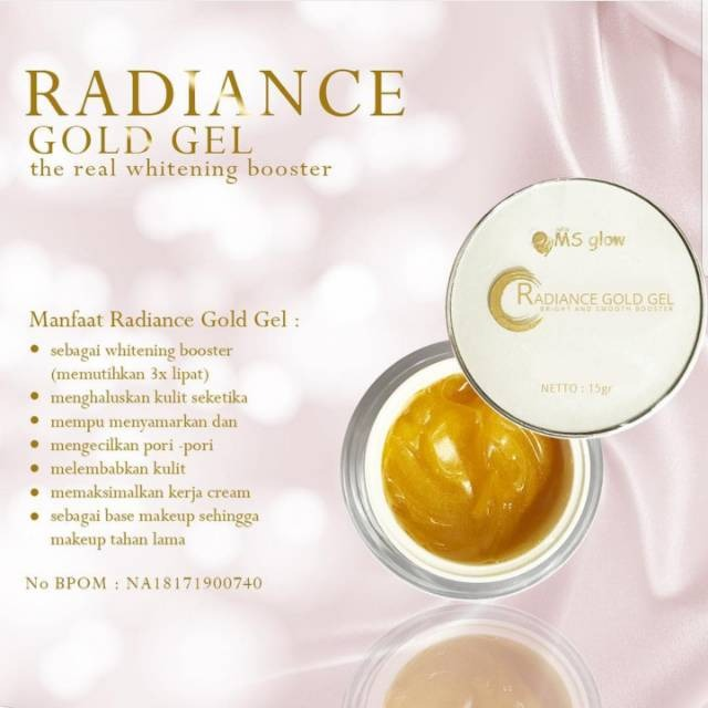 manfaat radiance gold gel