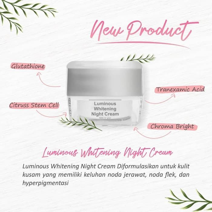 Ms Glow Luminous Whitening Night Cream Ms Glow Store