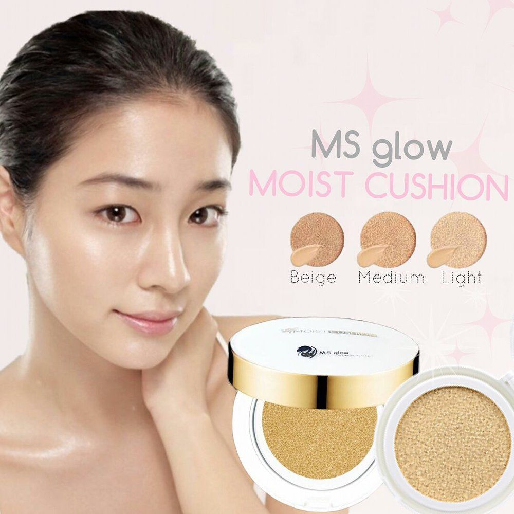 Bedak Padat MS Glow - Moist Cushion (Rekomendasi Product)