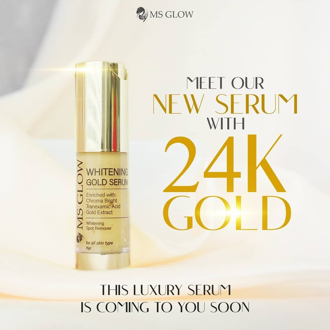 ms glow whitening gold serum