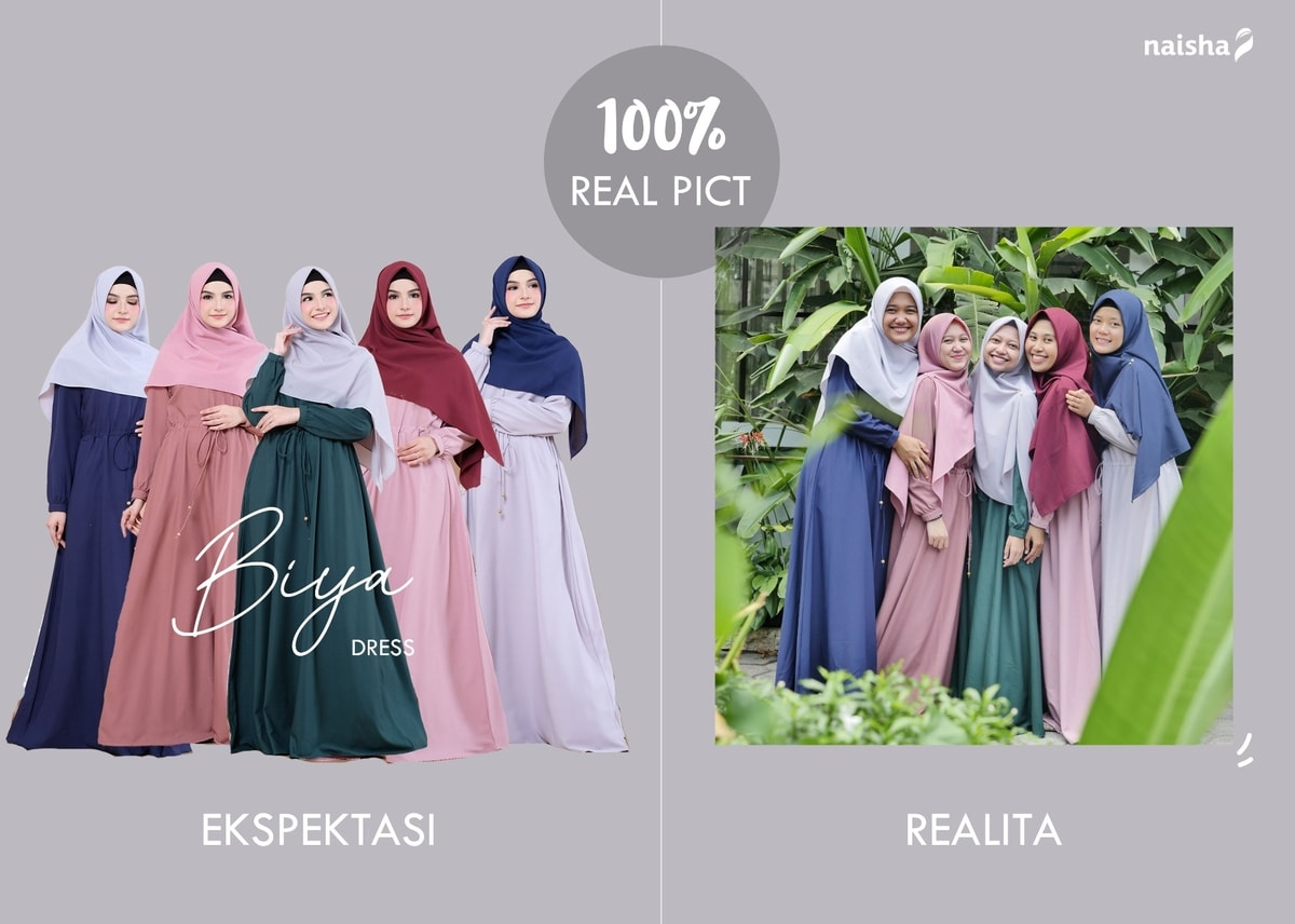 Gamis Syari Realpict: Biya Dress by Naisha