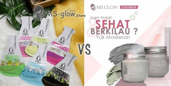 Madame Gie Beauty Mud Icing Mask VS MS Glow Clay Mask