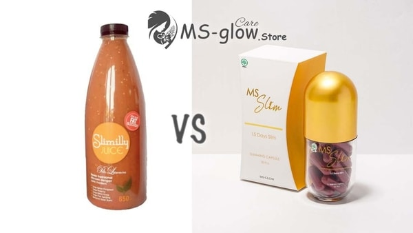 Jus Pelangsing Slimilly Prilly VS MS Slim Black by MS Glow