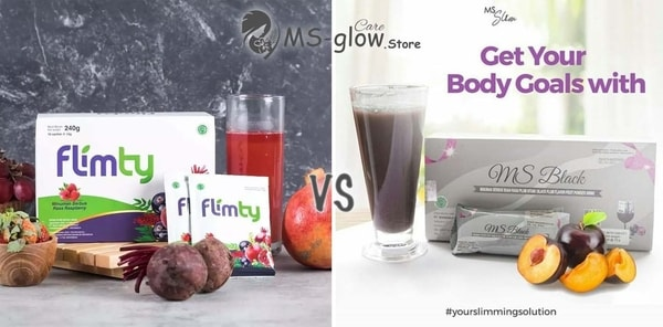 Minuman Pelangsing Flimty Fiber VS MS Black by MS Glow
