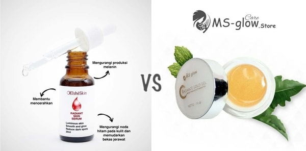ElsheSkin Radiant Skin Serum VS MS Glow Radiance Gold Gel