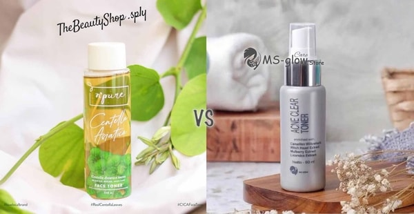 NPURE Face Toner Centella Asiatica VS MS GLOW Glowing & Acne Toner