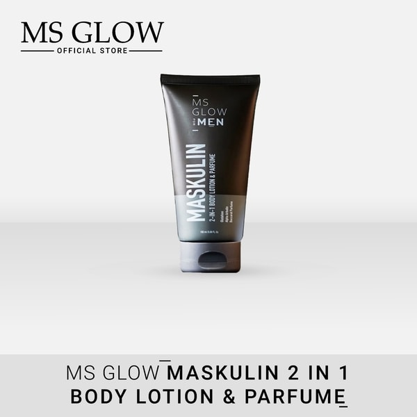 Lotion dan Parfum 2 in 1 Maskulin MS Glow For Men