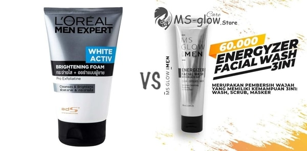 L'Oreal Paris Men Foam VS MS Glow Energizer Facial Wash