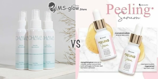 Chava Facemist by Chaiza VS Peeling Serum MS GLOW
