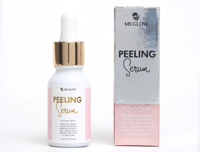 ms glow peeling serum